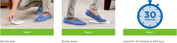 Bissell Stomp N Go Cleaning Steps